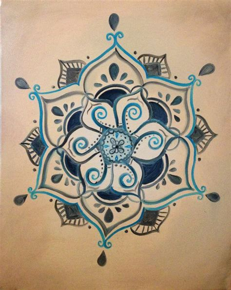 buddha mandala tattoo henna budista inspirado lotus pintura por shantiwinds en