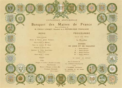 le banquet des maires de 1900 un repas gargantuesque un