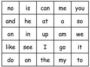 kindergarten high frequency words pilot elementary school