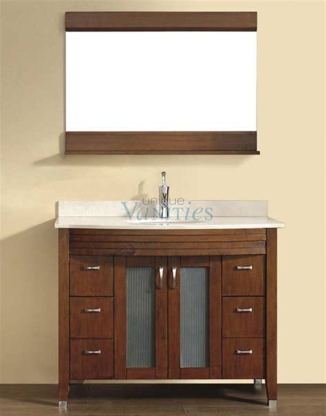 42 Inch Bathroom Vanity Cabinet 42 Inch Single Sink Bathroom Vanity With Choice Of Top In Classic Cherry Uvabalcc42