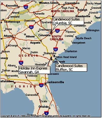 map of east coast » maps
