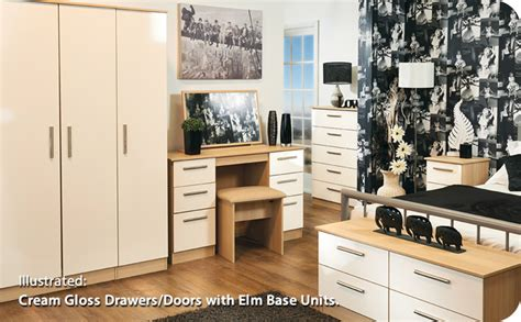gloss bedroom furniture ready assembled cream gloss bedroom furniture