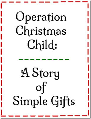 operation christmas child one soul
