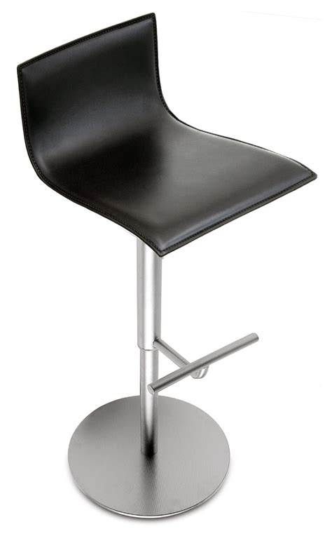 Thinning Of Stools by Thin High Stool Black Leather By La Palma