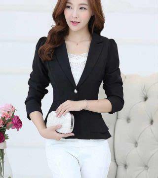 Tas Wanita Kerja Kantor Warna Hitam Import Murah B359 blazer wanita kantor warna hitam 2017 model terbaru