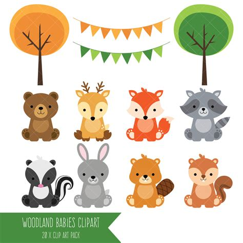 Forest Animal Baby Shower by Woodland B 233 B 233 Animaux Clipart For 234 T Clipart Animal