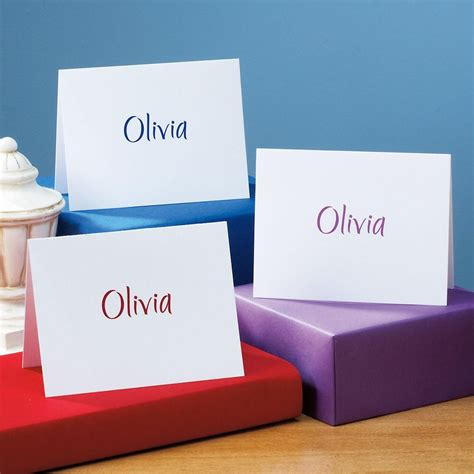 Personalized Gift Card Envelopes - elegant personalized note cards envelopes current catalog