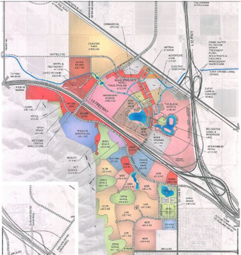 theme park zoning plans for disney world amusement park in casa grande