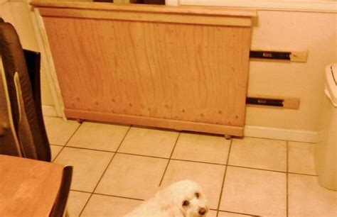 Garage Gate Design sliding dog gate this is just an image but the idea is