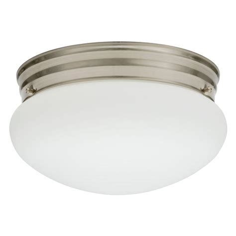 Commercial Electric 1 Light Globe Brushed Nickel Led Electric Ceiling Lights