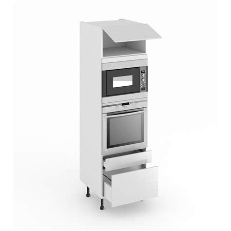 meuble cuisine colonne four micro onde colonne de cuisine pour four et niche de h 45 cm cuisine