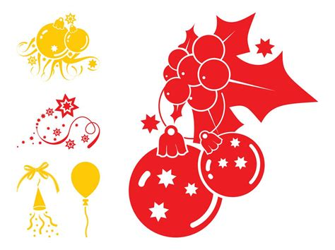 christmas decorations graphics vector art graphics