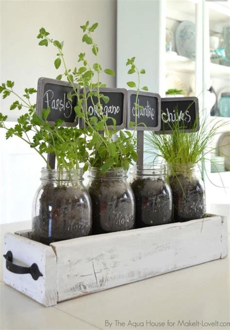 Window Sill Herbs Designs Herbs In Drawer Inside Fruit Jars For Kitchen Window Sill Our Garden Town