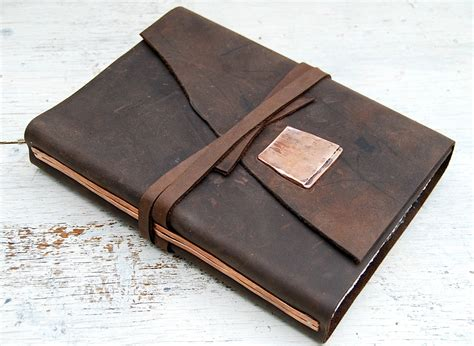 Handmade Leather Bound Journal - leather bound journal handmade adventure new orleans travel