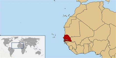 where is senegal on the world map senegal