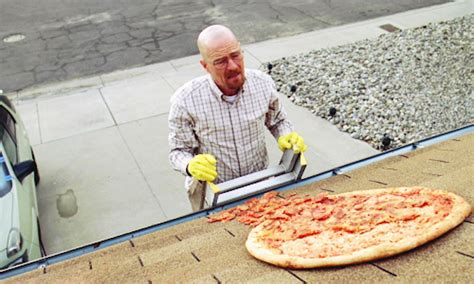 Breaking Bad Pizza Meme - fans have started throwing pizza on walter white s roof