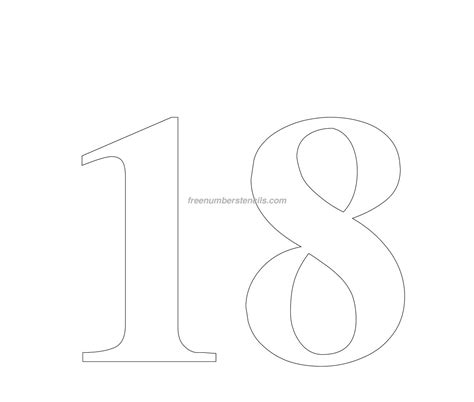 big template free 18 number stencil freenumberstencils