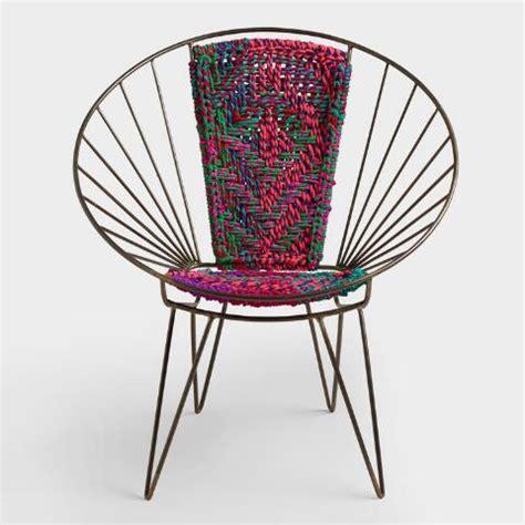 world market metal chairs metal woven chindi chair world market