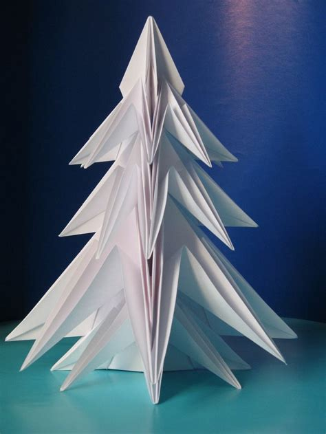 Origami Fir Tree - abete 2 fir tree 2 designed and folded by francesco