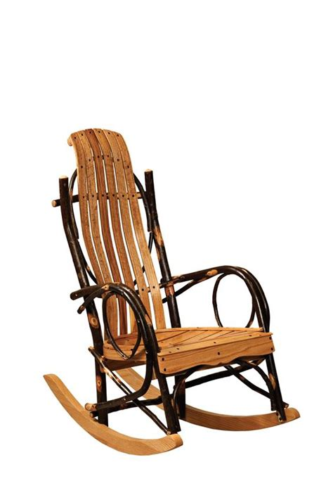 rustic rocking chair kit amish hickory youth rustic rocker