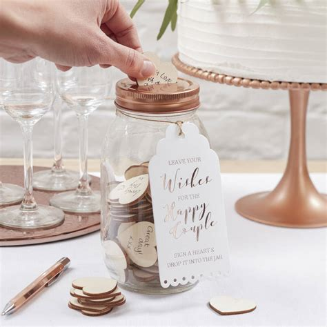 wedding wishes book glass wishing jar wedding guest book alternative by