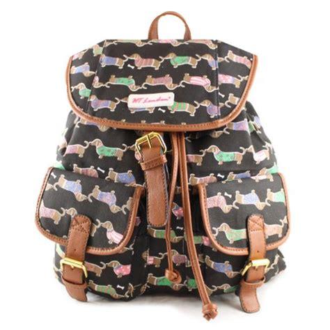 Dooneys Sausage The New Bag by New Black Sausage Daschsund Rucksack Shoulder Bag