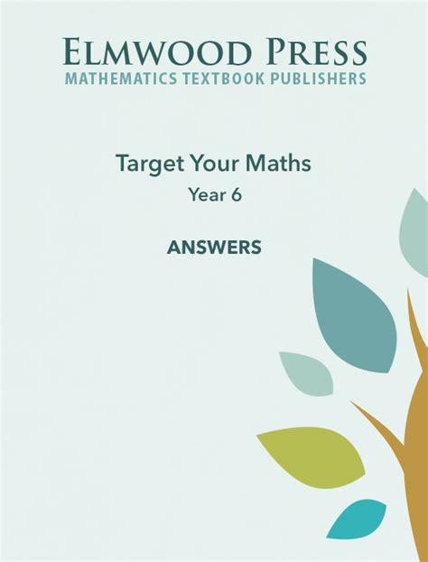 target your maths year 5 elmwood education target your maths year 6 answer book elmwood education