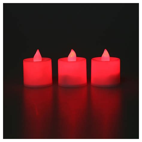 Hohe Kerzen by 12pcs Led Flimmern Kerzen Teelicht Kerzen Rot Licht Zur