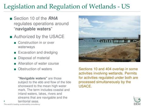 usace section 10 permit ppt legislation and regulation of wetlands powerpoint