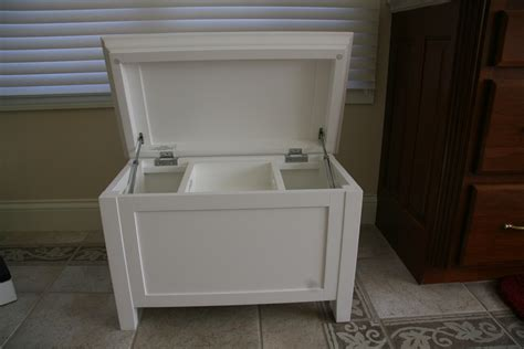 Bathroom Stool Storage Pottery Barn White Storage Bench Goodstuffcheapstl S