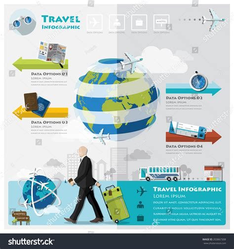 Travel And Journey Business Infographic Design Template Stock Vector 203867308 Shutterstock Travel Infographic Template