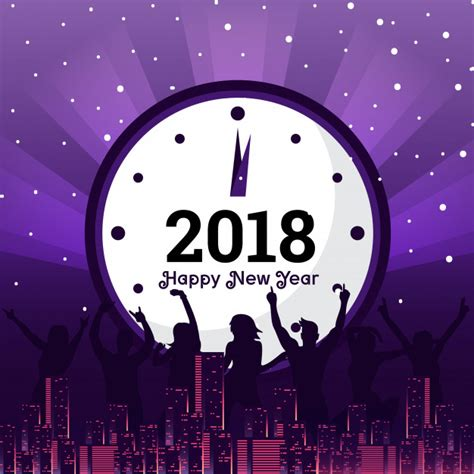 new year 2018 vector modern happy new year 2018 celebration card vector free