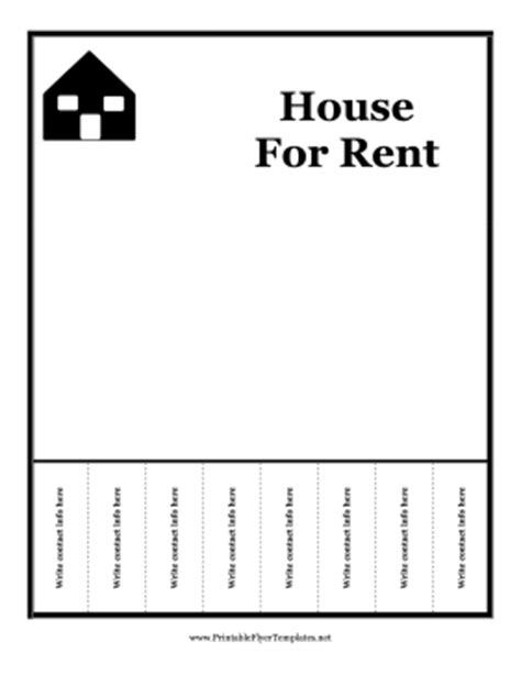house for rent flyer template free house for rent flyer