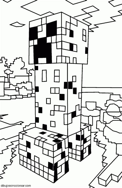 minecraft pumpkin coloring pages dibujos de minecraft para colorear