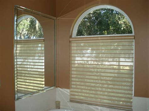 Window Treatments For Arched Windows Decor Modern Arch Window Blinds For Personalized Effect Decor Crave