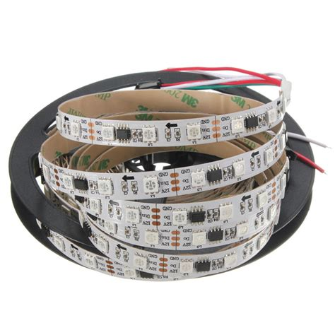 Led Running Smd 5050 Rgb Ic Pintar Ip 44 Waterproof 1 5m ws2811 smd5050 ic color rgb waterproof ip65 led light individual addressable