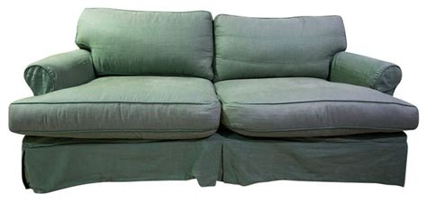down filled slipcovered sofa sold out slipcovered down filled sofa ready for rehab