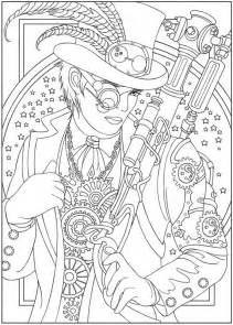 104 images colouring steampunk dovers creative alchemy