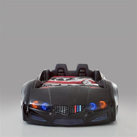 childrens car bed bmw childrens car bed in black with led and leather seats