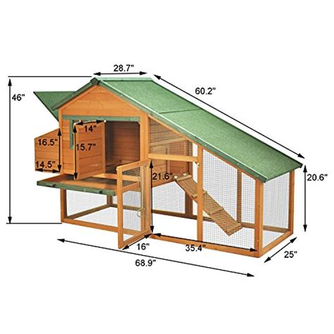 Backyard Chicken Coops Review Pawhut Wooden Backyard Slant Roof Hen House Chicken Coop In The Uae See Prices Reviews And Buy