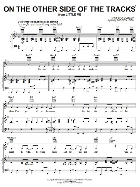 friends on the other side sheet music the other side of the tracks sheet music direct