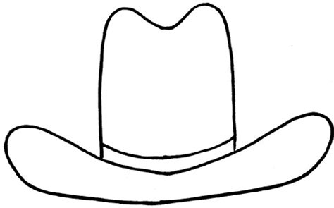 hat outline template cowboy hat outline clipart best