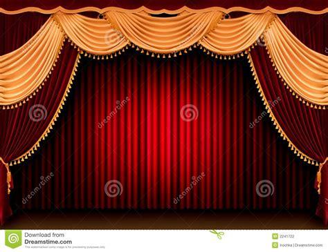 Cortina Roja Del Teatro Fotografía de archivo   Imagen: 2241722