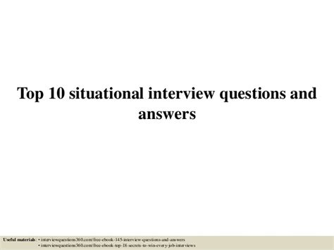 top 10 situational interview questions oyle kalakaari co