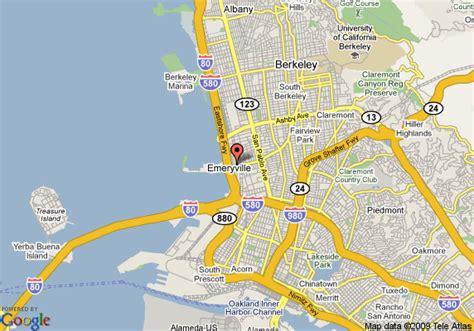 california map emeryville map of courtyard by marriott emeryville emeryville