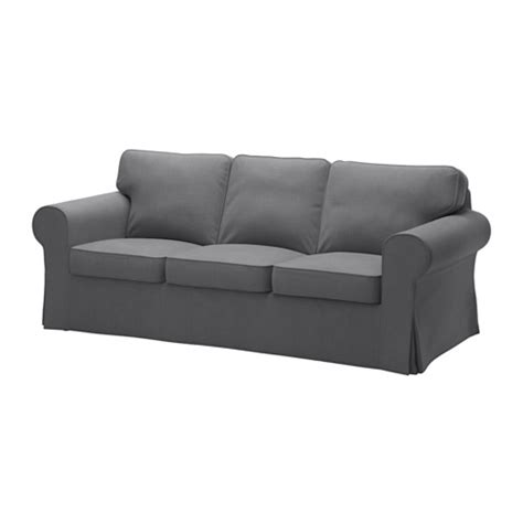 Black Couch Slipcovers Ektorp Sofa Nordvalla Dark Gray Ikea