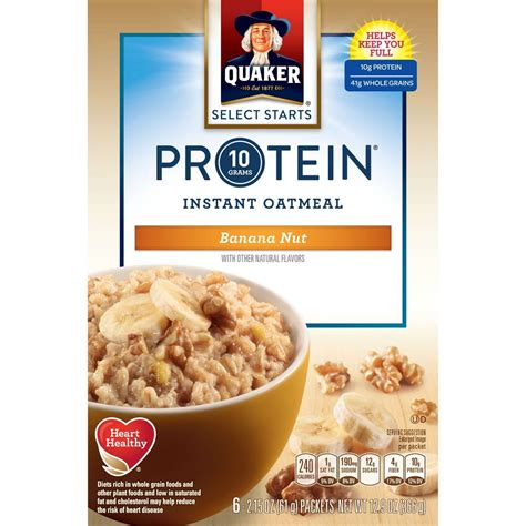 protein oatmeal upc 030000315958 quaker instant oatmeal protein banana