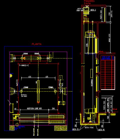 section cad block otis elevator cad block pictures to pin on pinterest