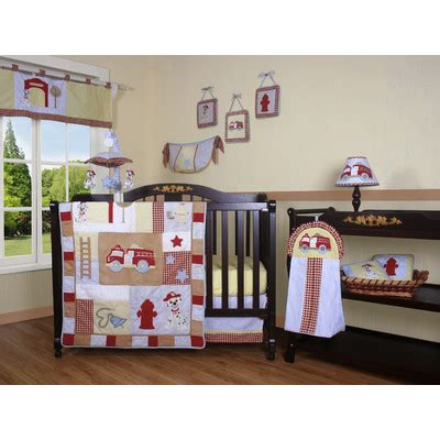 Firefighter Crib Bedding Geenny Boutique Truck 13 Crib Bedding Set Reviews Wayfair