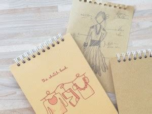 sketchbook kertas coklat buku diary notebook peekmybook organizer design unik
